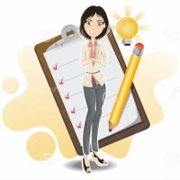 http://www.dreamstime.com/royalty-free-stock-image-smart-business-woman-done-her-checklist-image20105996